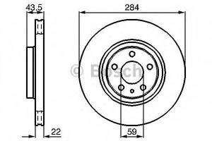 Тормозной диск Alfa Romeo 147