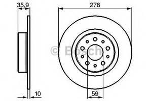 Тормозной диск Alfa Romeo 156