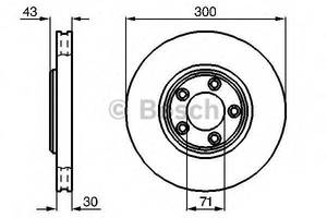 Тормозной диск Jaguar S-Type