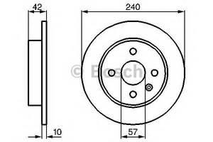 Тормозной диск Opel Astra