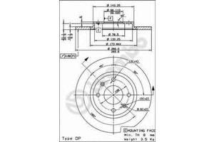 Тормозной диск Citroen BX
