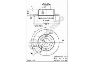 Тормозной диск Citroen Xantia