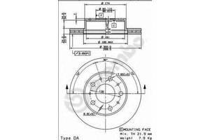 Тормозной диск Fiat Ducato