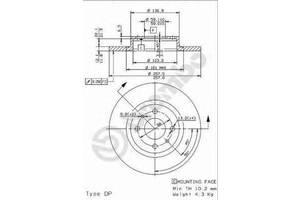 Тормозной диск Fiat Marea