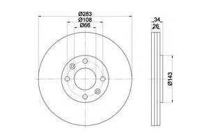 Тормозной диск Citroen Berlingo груз.