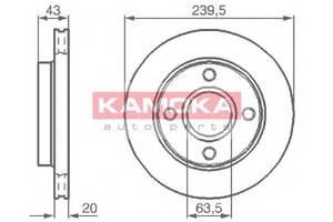 Тормозной диск Ford KA