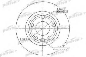 Тормозной диск Patron