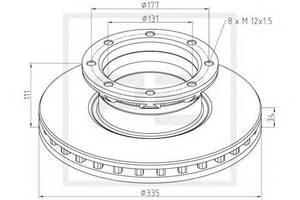 Тормозной диск Mercedes Tourino