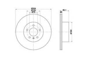 Тормозной диск BMW X5