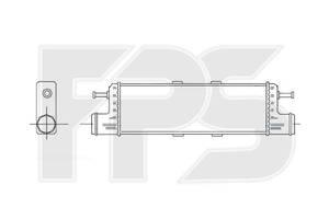 Радиатор интеркуллера Mercedes 140
