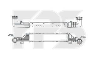 Радиатор интеркуллера Mercedes E-Class