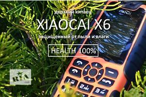 Захищений телефон X6 на 2 SIM-карти і акумулятором на 5000 mA, тримає місяць і заряджає ін. уст-ва, пиле/вологозахист!
