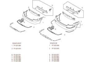 Новые Брызговики и подкрылки Hyundai Sonata