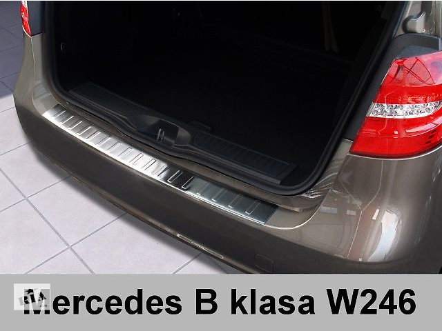 купить бу Защитная алюминиевая накладка на задний бампер с загибом Mercedes B W246 (2011-...) в Луцке
