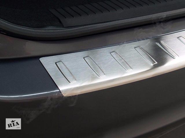 купить бу Защитная алюминиевая накладка на задний бампер с загибом Seat Leon (2009-2012) в Луцке