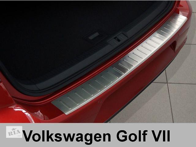 Защитная алюминиевая накладка на задний бампер с загибом Volkswagen Golf 7 (2012-...)- объявление о продаже  в Луцке