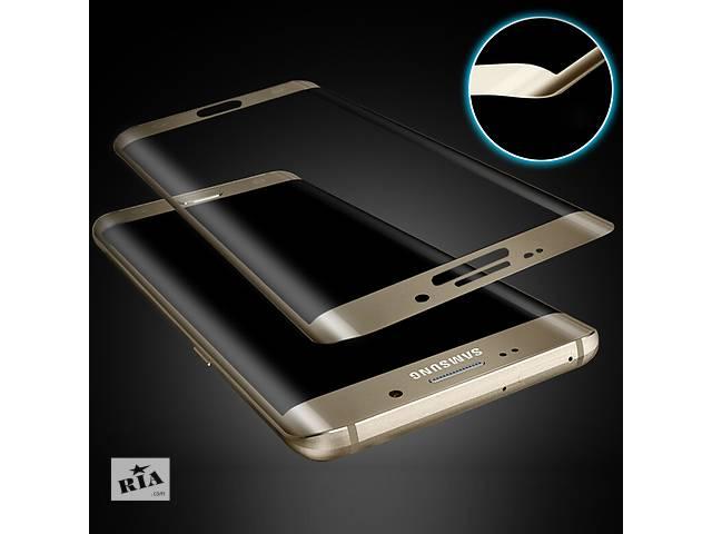 купить бу Защитное стекло для Samsung Galaxy S6 Edge на весь экран белое, синее, золотое в Киеве