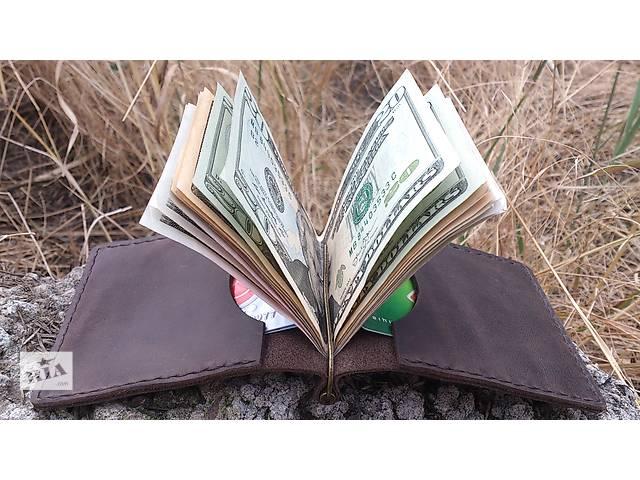 купить бу Зажим для денег и карт из натуральной итальянской кожи. в Херсоне