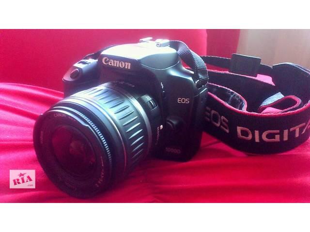 купить бу Зеркальный фотоаппарат Canon EOS 1000D + объектив 18-55 kit + сумка в Днепре (Днепропетровск)