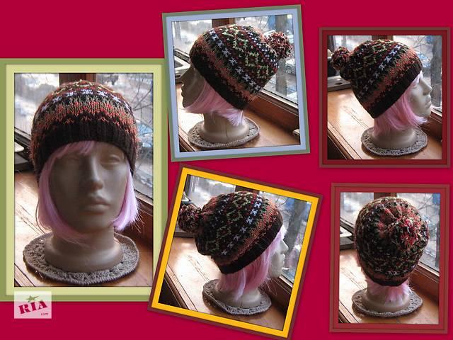 купить бу жаккардовая шапка в Киеве