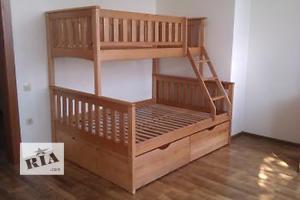 «Жасмин» - двухъярусная трехместная кровать, от фабрики мебели из дерева