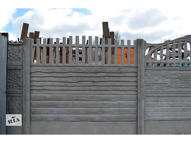 продам железобетонный декоративный забор бу  в Украине