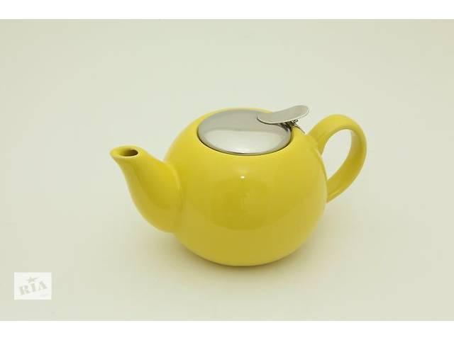 купить бу Желтый заварочный чайник Fissman 0,75л TP-9231.750 в Киеве