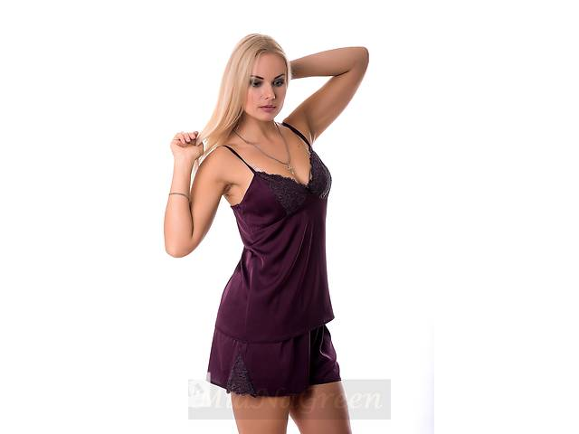 бу Женская пижама из нежного шелка П017 фиолетового цвета в Харькове