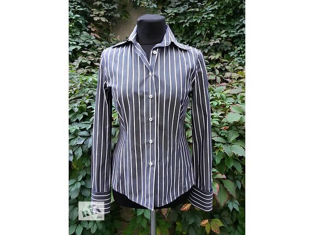 Женская рубашка ZARA, серая в белую полоску, хлопок.- объявление о продаже  в Киеве