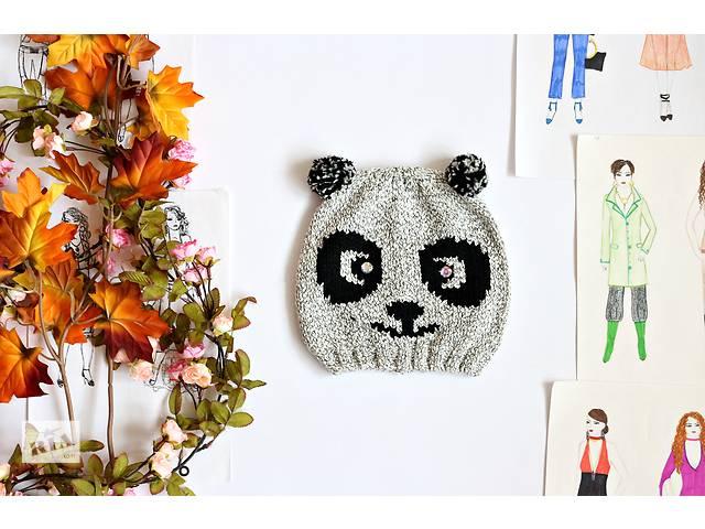 Женская серая шапка, панда- объявление о продаже  в Полтаве