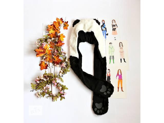 купить бу Женская шапка+рукавички, панда в Полтаве