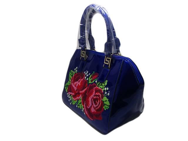 бу Женская сумка с узором цвет темно-синий в Киеве