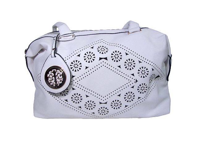 купить бу Женская сумка с узором и украшением белая в Киеве