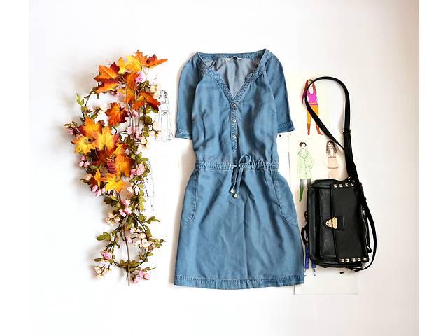 купить бу Женское джинсовое платье с карманами в Полтаве