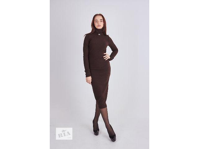 Женское платье - гольф , трикотажная вязка- объявление о продаже  в Хмельницком