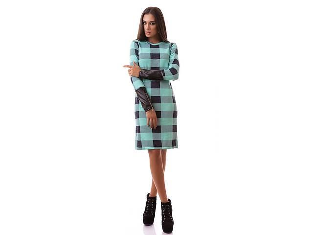 бу Женское платье с кожаным рукавом опт от производителя в Одессе