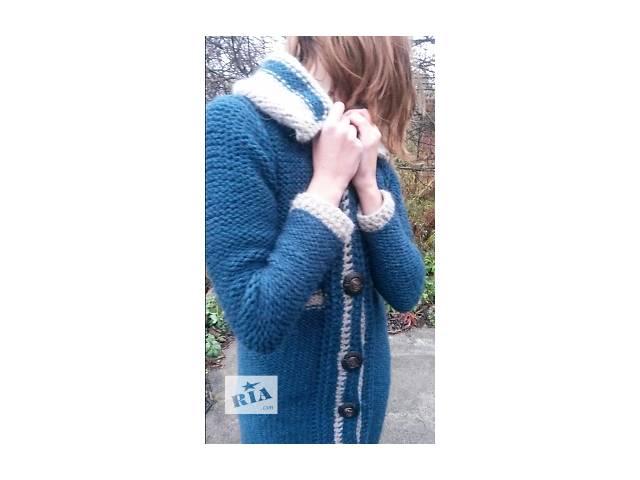 бу Женское вязаное пальто из шерсти Осень/ Весна 2016 (ручная работа) в Днепре (Днепропетровск)