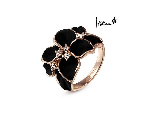 продам Женское кольцо черные цветы бу в Кропивницком (Кировограде)