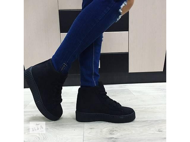 продам Женские ботинки криперы бу в Киеве