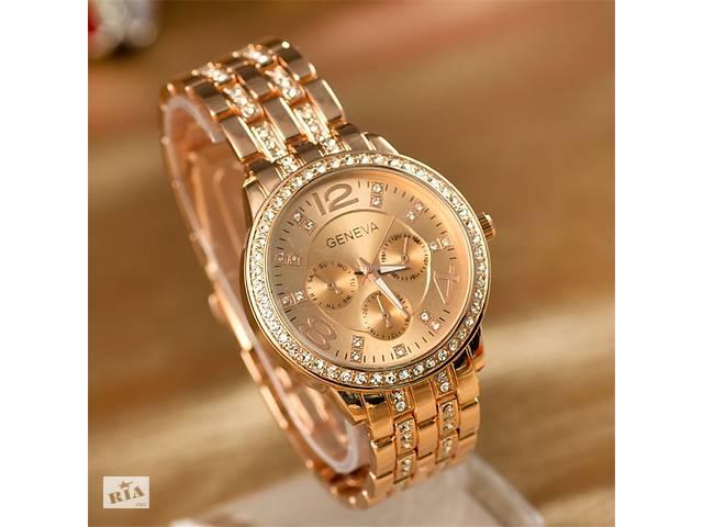 Оригинальные женские часы с стразами - золото, серебро.- объявление о продаже  в Кривом Роге (Днепропетровской обл.)