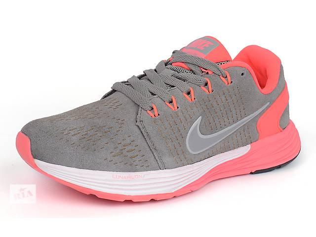 Женские кроссовки Nike Lunarglide 7 Running (Pink & Grey)- объявление о продаже  в Харькове
