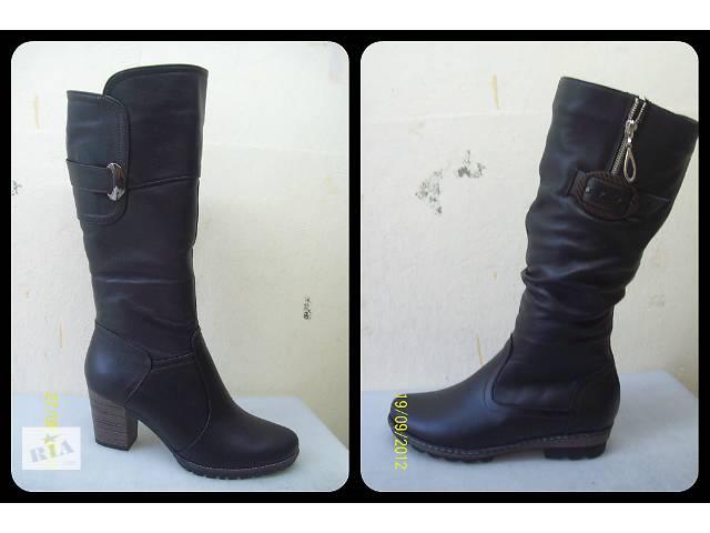 Женские сапоги (зимние, кожаные)- объявление о продаже  в Днепре (Днепропетровск)
