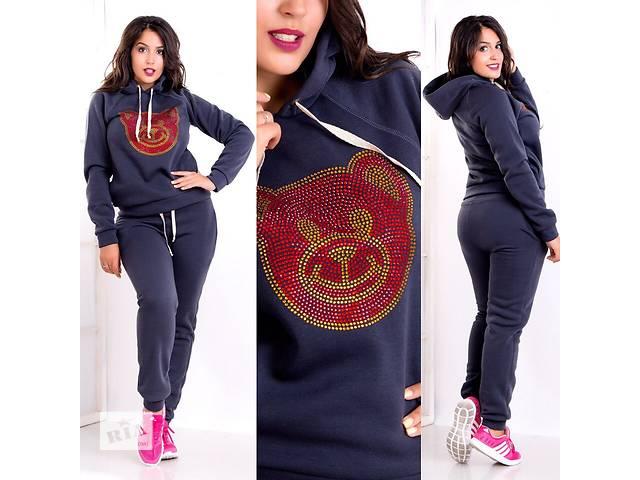 купить бу Женские теплый спортивный костюм больших размеров оптом от производителя в Одессе