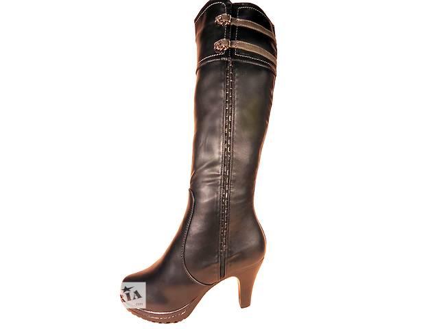 купить бу Женские, зимние, высокие сапоги на каблуке. Размер 36-41. в Хмельницком