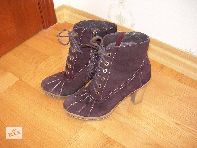 Женские ботинки,натуральная замша,37 б/у- объявление о продаже  в Киеве
