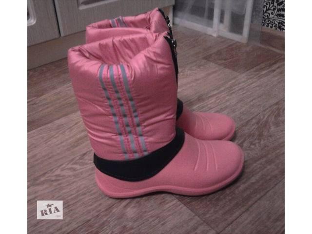 бу Женские сапоги розовые 36 размер теплые новый в Александрие