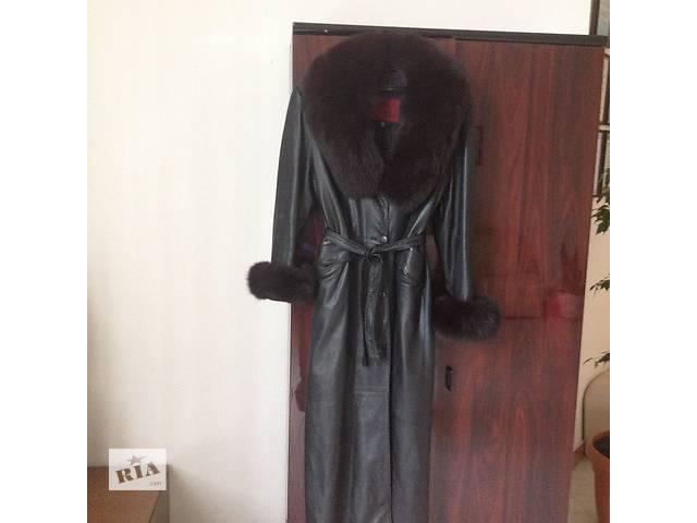 купить бу женский кожанный плащ в Донецке