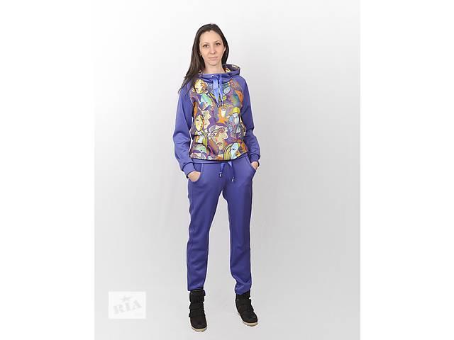 купить бу Женский спортивный костюм с ярким принтом СК-0004  в Харькове