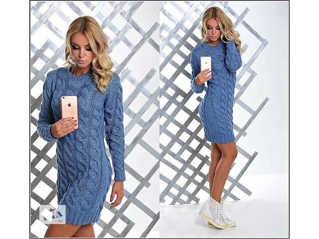 купить бу Женский свитер-туника коса в Одессе