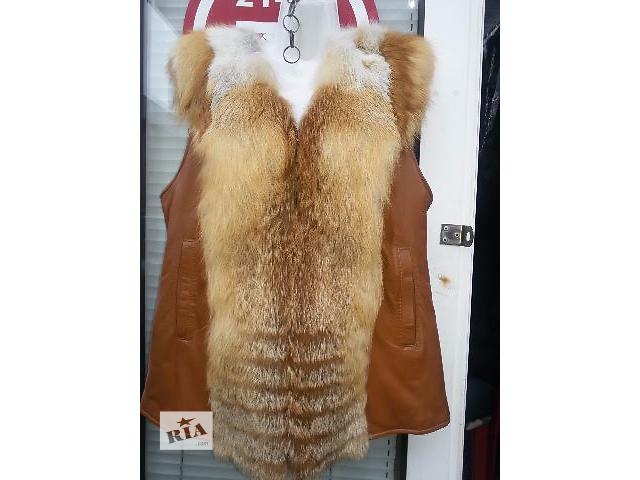 купить бу Жилетка женская из меха лисы в Харькове